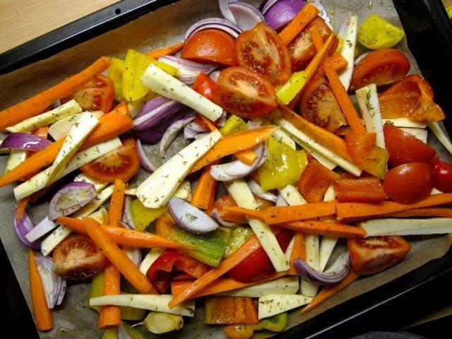 Soppa med rostade grönsaker | Soup with roasted vegetables