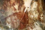 Pintura rupestre: Definición, materiales y técnicas: Pintura rupestre ocre.