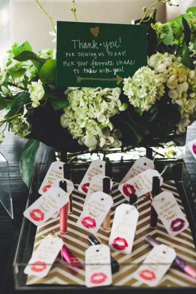 favors for wedding shower. lipstick bridal shower favors. see more favor ideas at www.one- favors for wedding