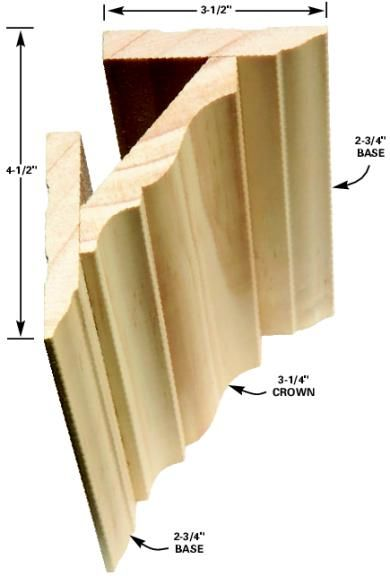 love this idea for thickening crown molding