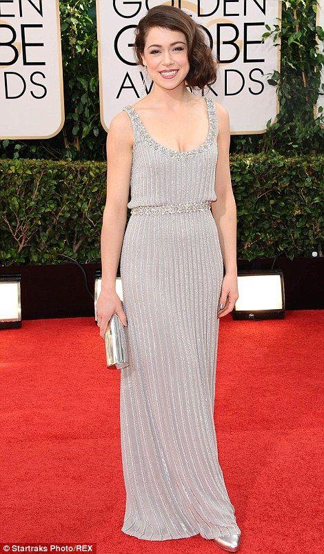 Tatiana Maslany at the 2014 Golden Globes