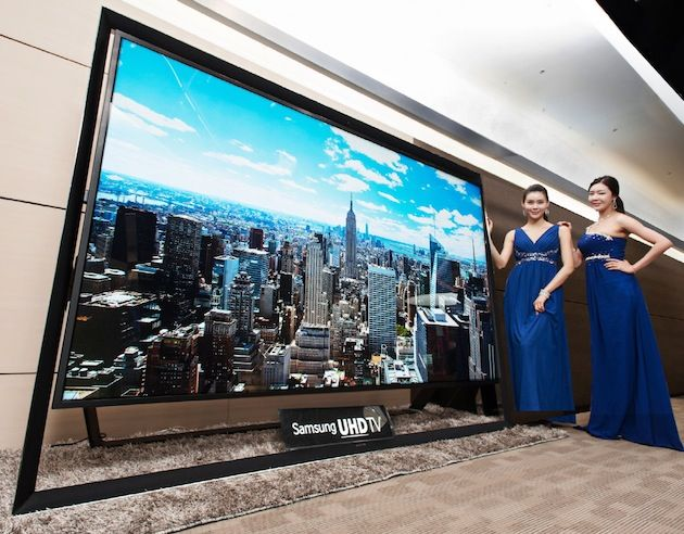 Samsung's 110-inch Ultra HDTV is the world's largest, and it goes on sale Monday December 30 2013