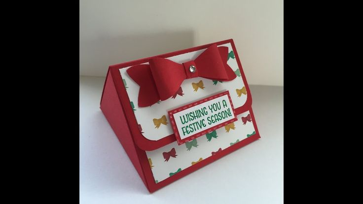 Easy triangular treat box with Stampin' Up! products
