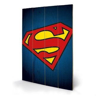 Superhero Art- Superman Wooden Wall Art