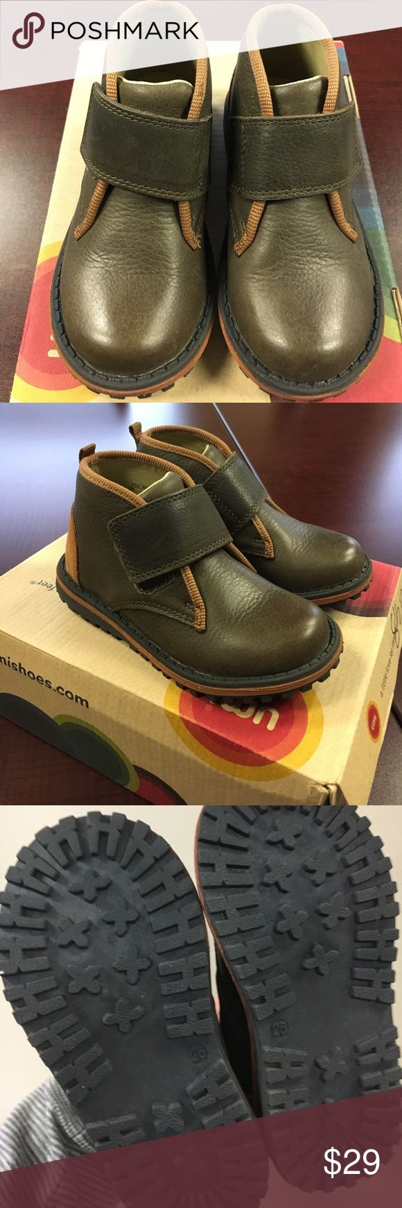 Umi boys olive multi color boots with velcro strap Umi boys olive multi color boots with velcro strap Umi Shoes Boots