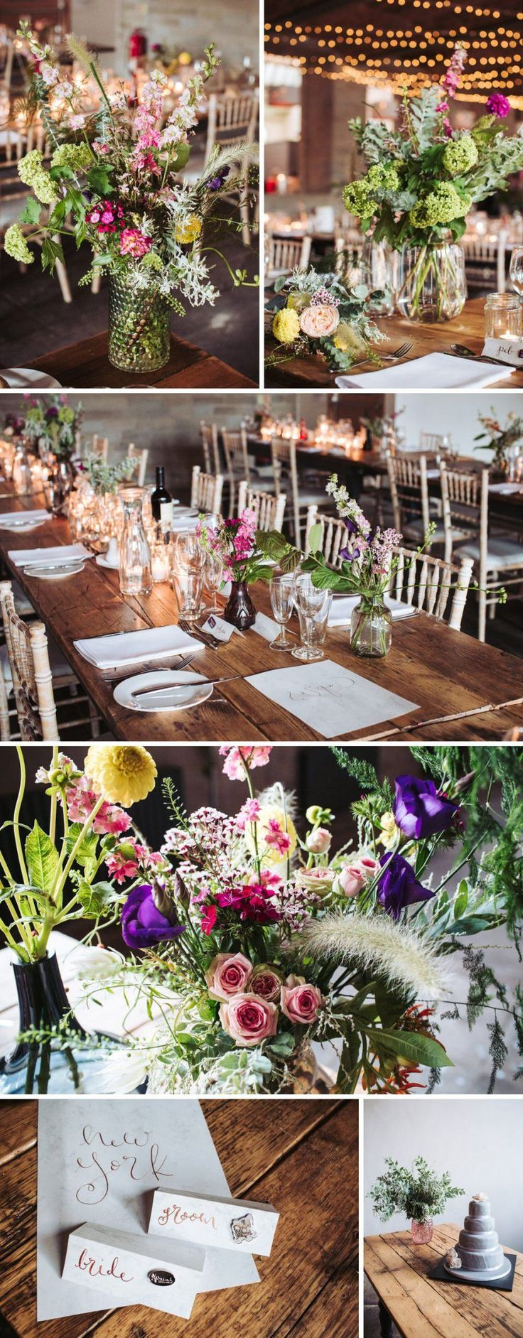 budget wedding venues north yorkshire%0A Industrial wedding venue Leeds  Yorkshire  Cool  rustic tables and flower  decorations at the