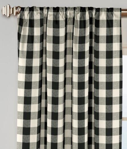 Buffalo Check Rod Pocket Curtains - Pair