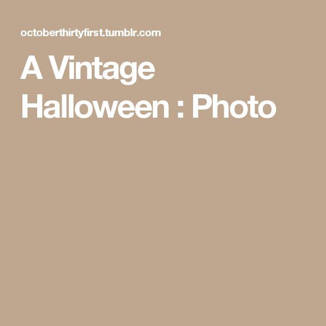 A Vintage Halloween : Photo