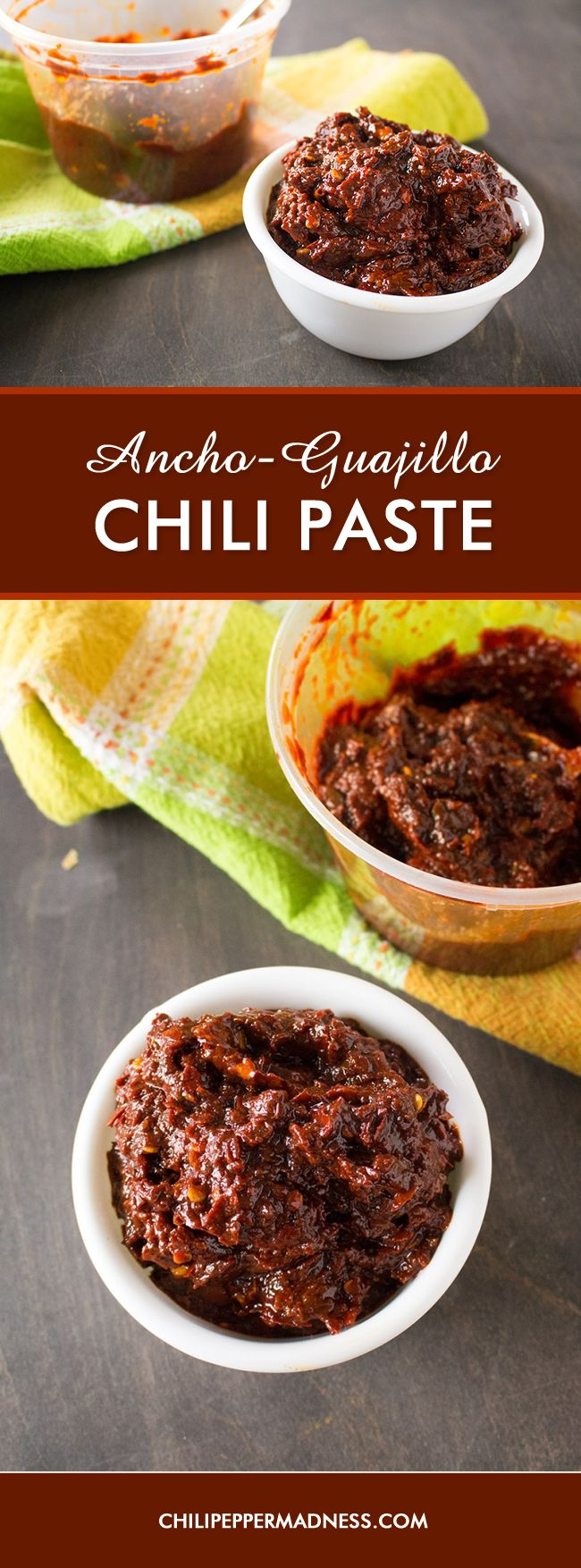 Ancho-Guajillo Paste – This is an all-purpose chili paste recipe made with ancho and guajillo chili peppers. Use it to flavor soups and stews, pasta sauces, slow cooker recipes and so much more. I have this in the refrigerator all the time as a quick go-to for massive flavor.