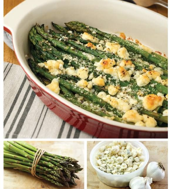 """For Recipe: CLICK on PIC and when taken to 2nd pic click again..ASPARAGUS & GORGONZOLA GRATIN... ...Recipe by George Stella... ...For tons more Low Carb recipes visit us at """"Low Carbing Among Friends"""" on Facebook"""