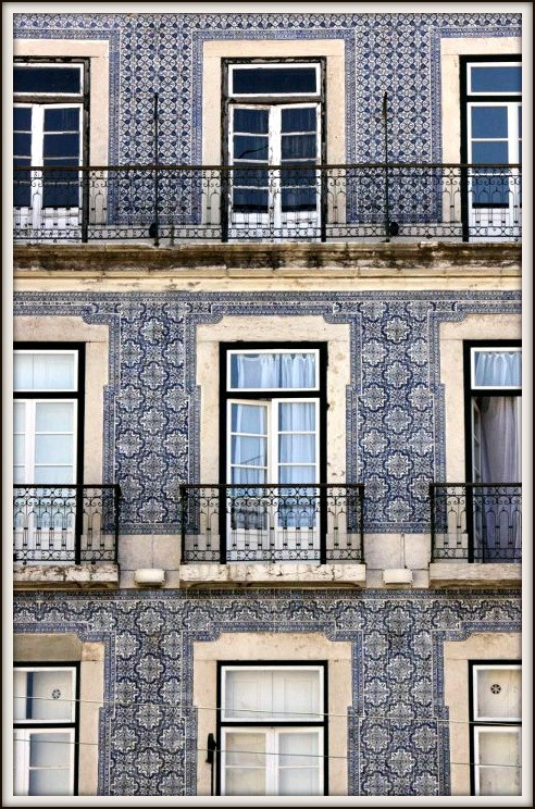 Traditional Portuguese tiles - part of the inspiration behind the look and colour scheme of the 2013 eurobest.com site