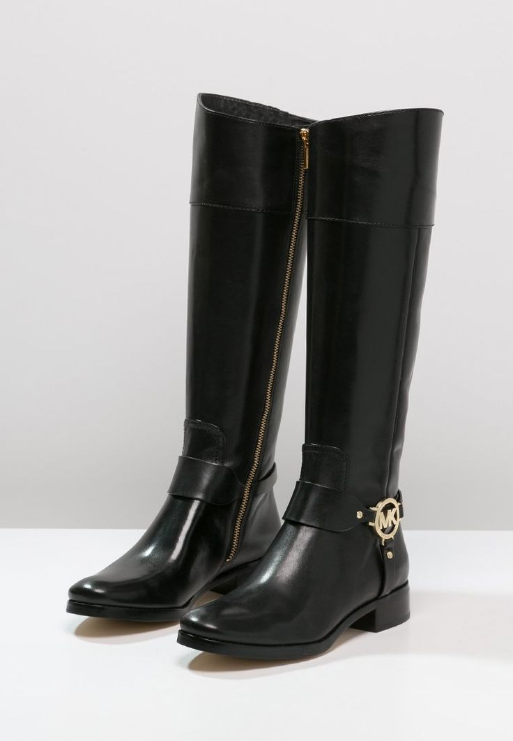 michael michael kors fulton harness bottes black prix. Black Bedroom Furniture Sets. Home Design Ideas