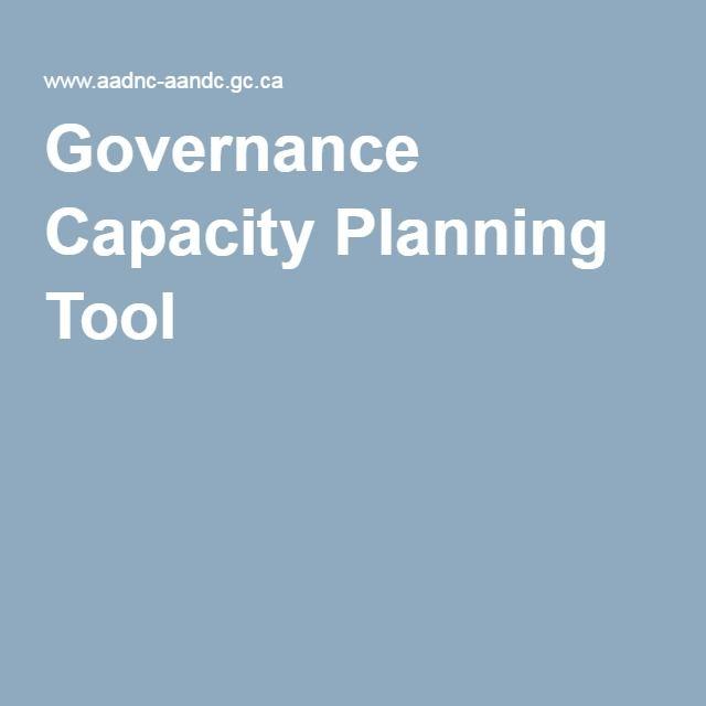 Governance Capacity Planning Tool