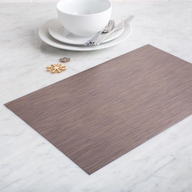 Make you table look great at your next dinner party with these stylish Ritz placemats. Durable PVC material protects your table from spills and marks and easily wipes clean when you're done.