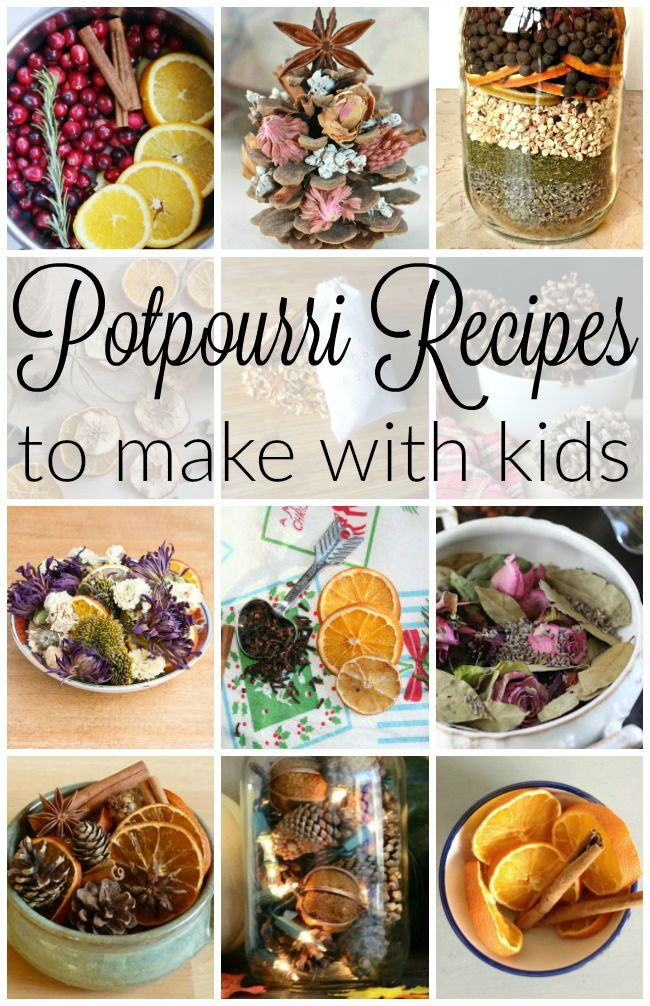 Making potpourri with kids! These are easy potpourri recipes that turn out beautiful and smell great. Perfect as homemade gifts to make.