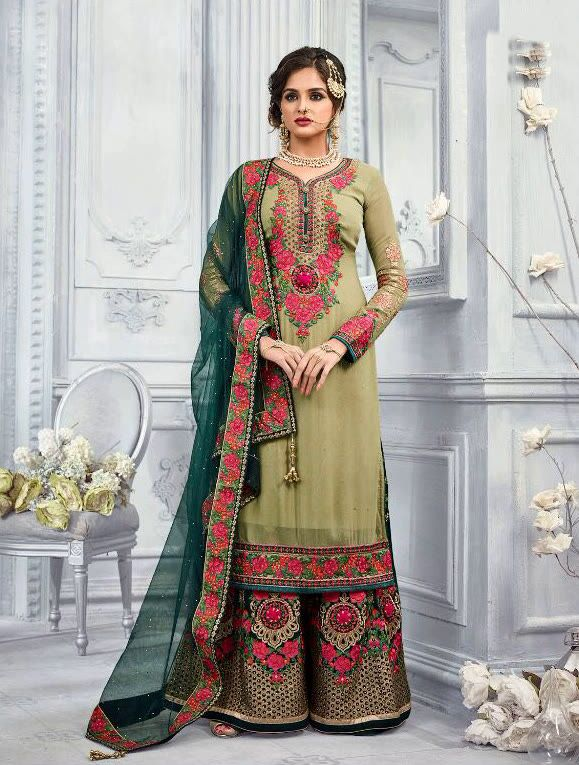 4636152354 Bridal Party Wear Palazzo Suit | Saree | Dresses, Indian designer ...