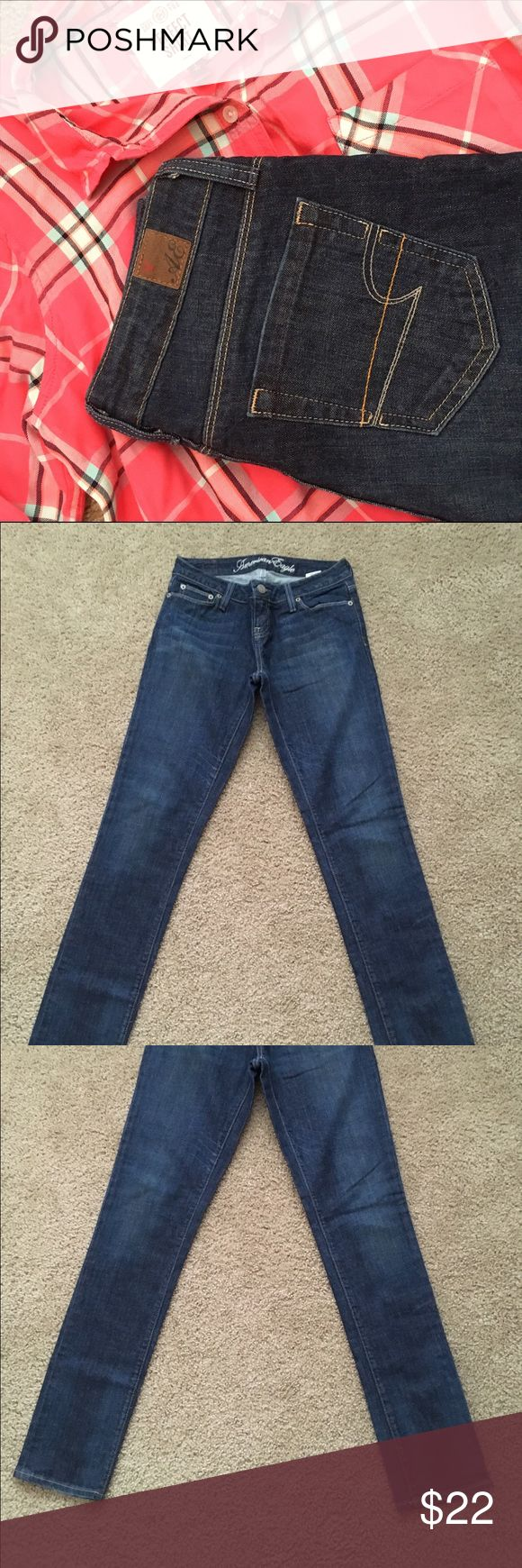 """American Eagle Outfitters skinny jeans American Eagle Outfitters skinny jeans. 99% cotton, 1% spandex. Approximate 32"""" inseam. American Eagle Outfitters Jeans Skinny"""