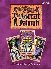 The Great Dalmuti is a card game designed by Richard Garfield, illustrated by Margaret Organ-Kean, and published in 1995 by Wizards of the Coast. It is a variant of the public domain game A**hole, dating back to late Middle-Ages.Drinks Games, Games People, Gift Ideas, Boards Games, Families Games, Fun Games, Cards Games, Games Night, Plays Cards