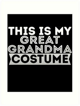 Great Grandma Costume