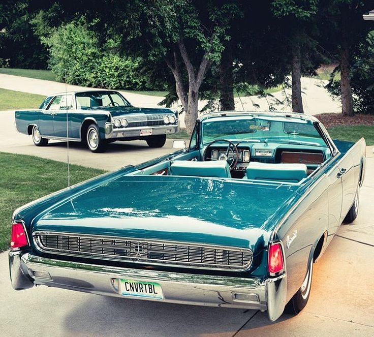 """""""Double the pleasure, double the fun!"""" with two 1962 Lincoln Continentals. 1962 Lincoln…"""""""