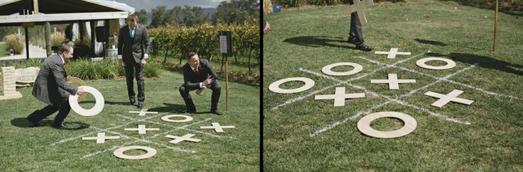 Keep your guests occupied between the wedding ceremony and reception with fun games. Image: Cavanagh Photography http://cavanaghphotography.com.au