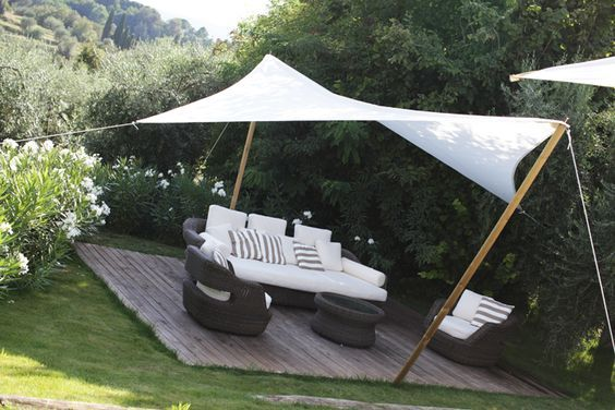 41 best sail shades images on pinterest shade sails for Garden outlay ideas