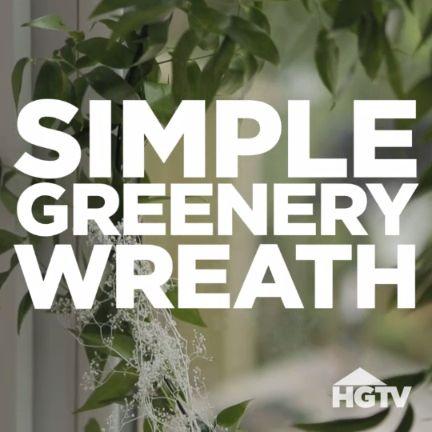 DIY Simple Greenery Wreath
