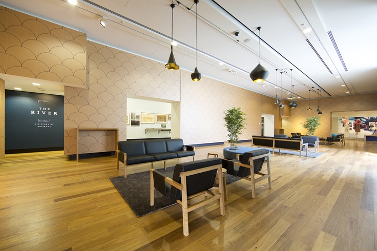 The wood throughout the gallery is tallowwood. It is a native Eucalypt species common in Queensland and New South Wales. http://www.museumofbrisbane.com.au