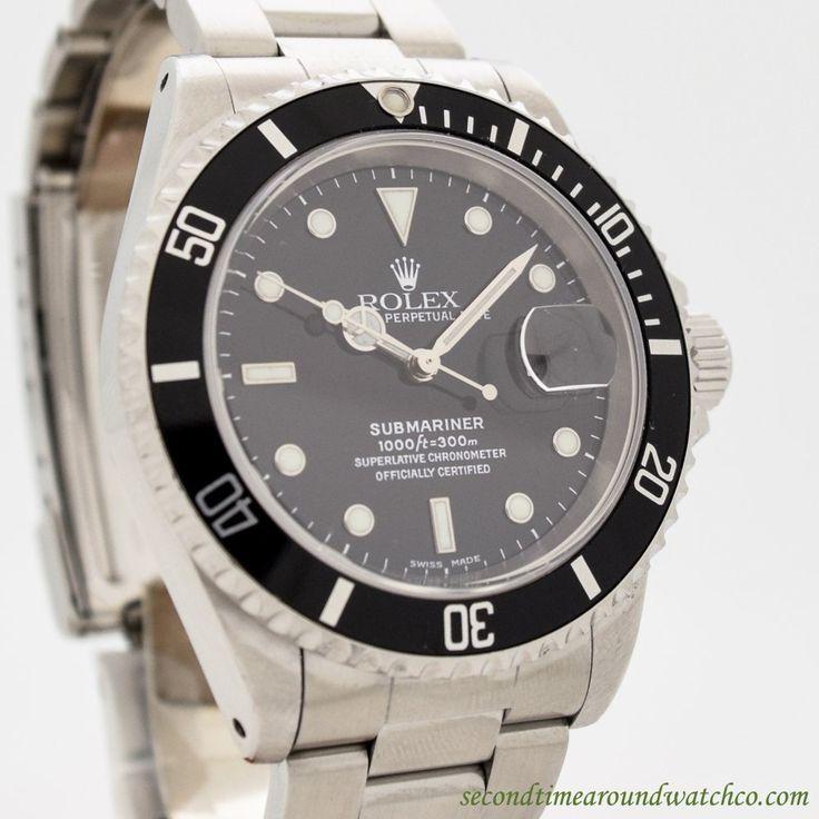 1999 Rolex Submariner Date Ref. 16610 Stainless Steel Watch