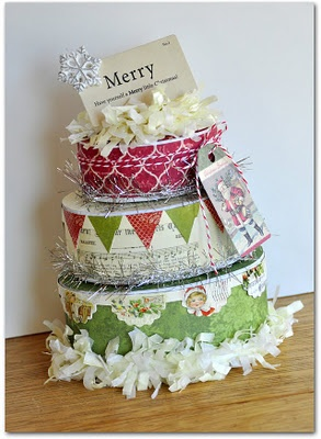 Christmas Cake Hamper Ideas : Merry Box Gift Set by Jill Cornell {All Things Paper ...
