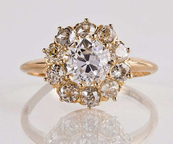 Antique Engagement Ring Antique Victorian 14k By