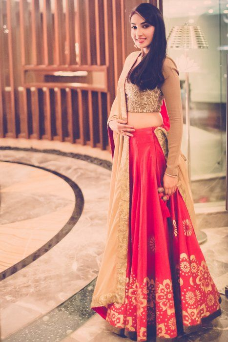 Avantika's Red Wedding #Lehenga With Gold #Blouse.