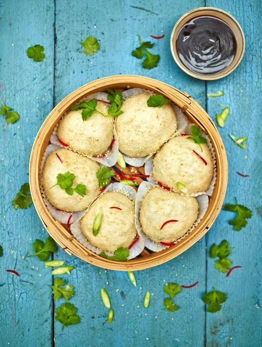 Vegan Dim Sum Buns -  Soft steamed buns stuffed with Asian-style mushrooms and hoisin sauce – people will go mad for these!