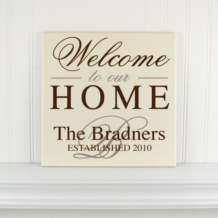 Family Name Welcome Sign Personalized with Last by CRSWoodDesigns, $43.50