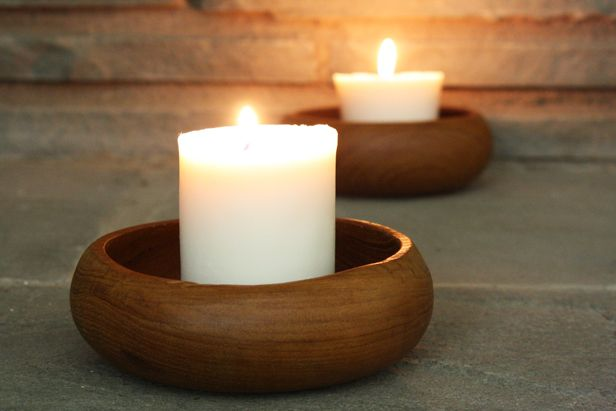 Pretty homemade pillar candles. Learn the secret ingredient to getting them right >> http://blog.diynetwork.com/maderemade/how-to/how-to-make-your-own-pretty-pillar-candles?soc=pinterest