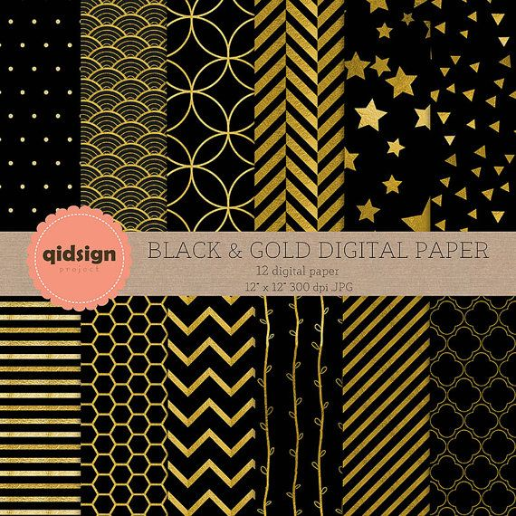 Hey, I found this really awesome Etsy listing at https://www.etsy.com/listing/241669914/black-gold-digital-paper-chevron-stripes