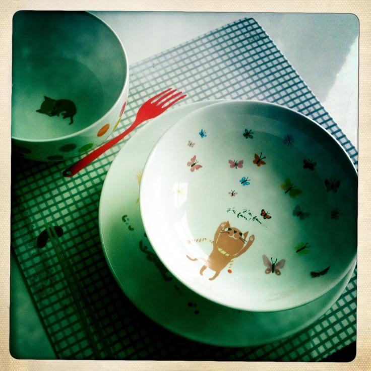 Tinou le joly senoville vaisselle et set de table pour - Set table enfant ...