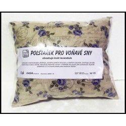 Bylinkový polštář se sušenými květy levandule - Pro voňavé sny - Růže