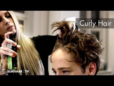 Curly look for men ★ Mens hairstyle inspiration ★ By Vilain Pomade - YouTube