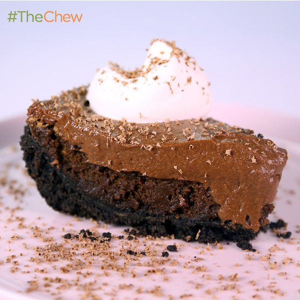 Chocolate Mousse Cake Pie by Anna O'Steen! #TheChew #Dessert