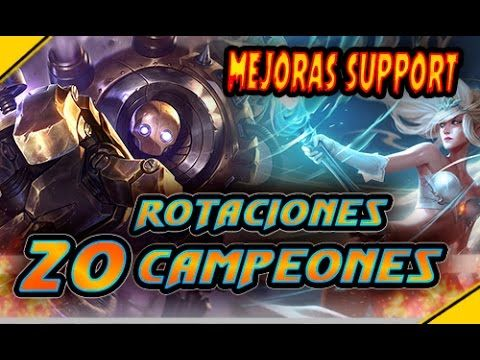 ROTACIÓN de 20 CAMPEONES y mejoras a SUPPORT | Noticias League Of Legends LoL
