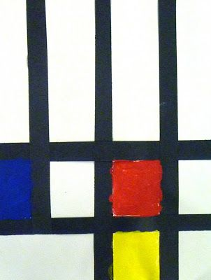 From the Sketchbook of Bridget Smith: Mondrian inspired compositions