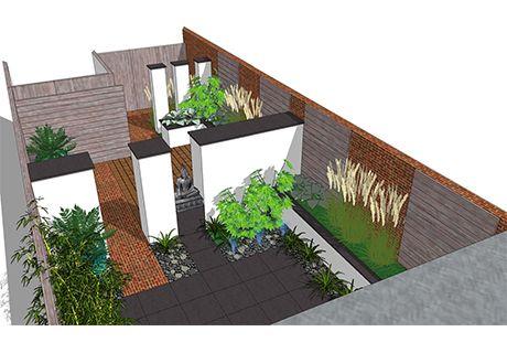 Afbeelding van - Tuin ontwerp exterieur ontwerp ...