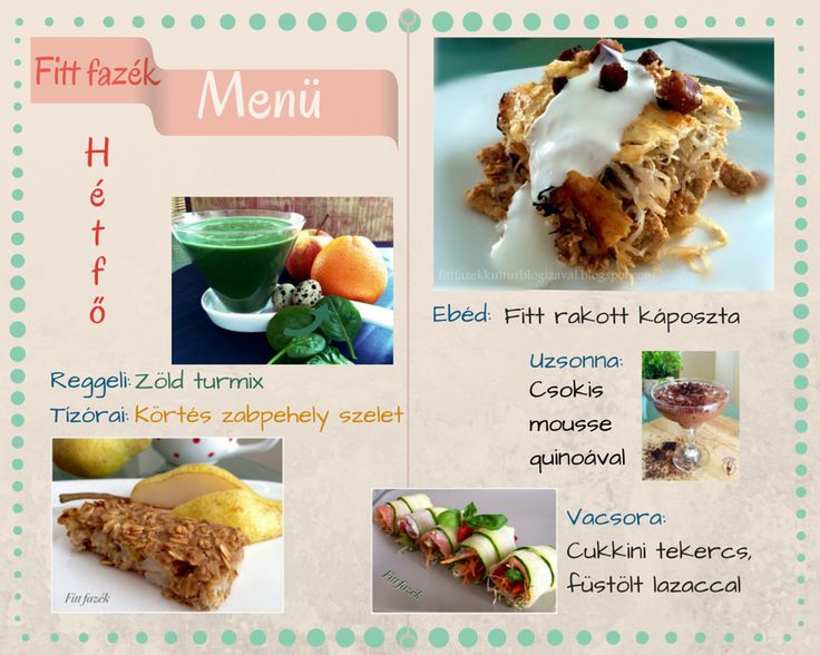 Fitt fazék kultúrblog :   Égészséges napi menü hétfőre a Fitt fazék konyhájából.  Legyél Te, saját egészséged séfje! Precízen megtervezett, tiszta, egyszerűen elkészíthető ételek a teljes értékű táplálkozáshoz. Pontos recepttel és step by step fotókkal :) Nézd meg és írd össze a bevásárlólistát. Én segítek, hogy otthon el tudd készíteni. Üzenj ha mégsem sikerülne! Üdv.: Izabella.