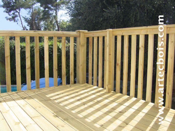 wood deck railings lighting fence garden yard - Google-søk