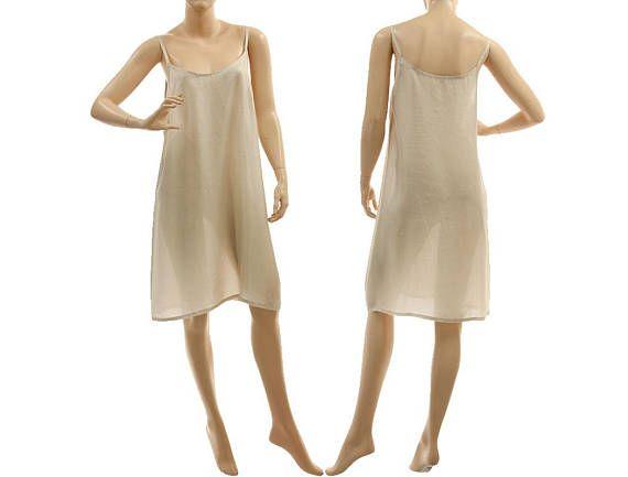 Grey silk slip dress grey silk strappy lingerie dress grey