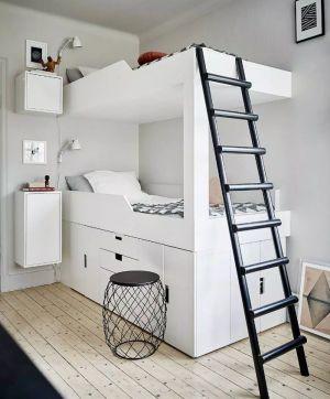 les 25 meilleures id es concernant lits superpos s blancs sur pinterest chambres avec lits. Black Bedroom Furniture Sets. Home Design Ideas