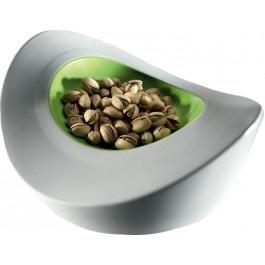 Entity 5 contenitore decorativo multifunzione white/green in melamina 100% - Mebel