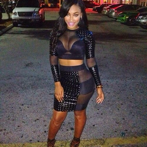 Miracle watts black dress