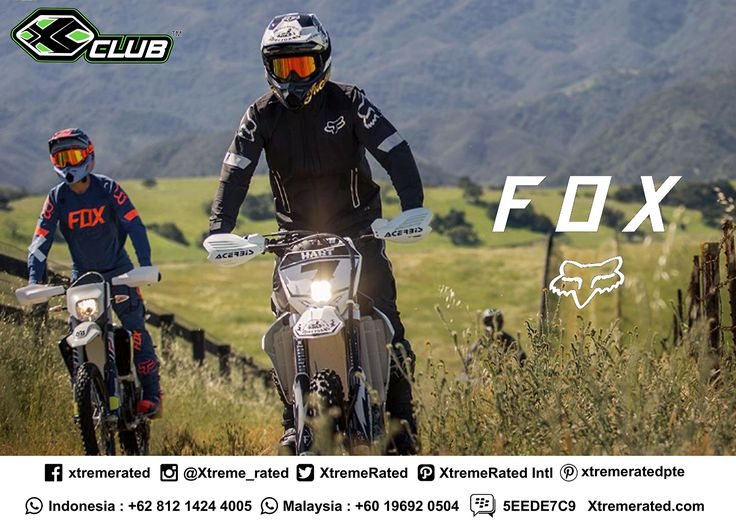 Fox Moto Apparels & Protections Available in all XCLUB leading stores  #xtremerated #xclub #foxracing #apparels #protections